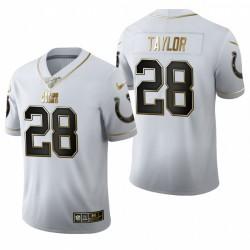 Colts Jonathan Taylor blanc NFL Draft Golden Edition Maillot