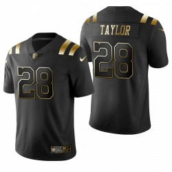 Indianapolis Colts Jonathan Taylor noir NFL Draft or limitée Maillot