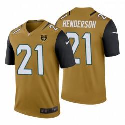 Hommes Henderson C.J. 21 Couleur Or Jacksonville Jaguars Rush Legend Maillot NFL Draft