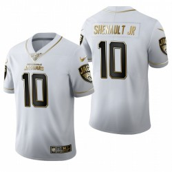 Jaguars Laviska Shenault Jr. blanc NFL Draft Golden Edition Maillot