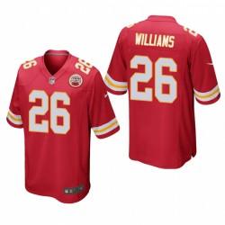 Kansas City Chiefs Damien Williams 26 Rouge Jeu Maillot