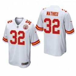 Kansas City Chiefs Tyrann Mathieu 32 Blanc Jeu Maillot
