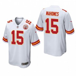Kansas City Chiefs Patrick Mahomes 15 Blanc Jeu Maillot