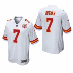 Kansas City Chiefs Harrison Butker 7 Blanc Jeu Maillot