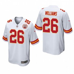 Kansas City Chiefs Damien Williams 26 Blanc Jeu Maillot