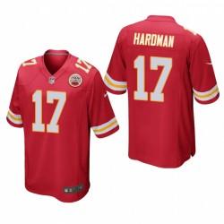 Kansas City Chiefs Mecole Hardman 17 Red jeu Maillot