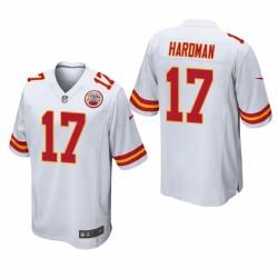 Kansas City Chiefs Mecole Hardman 17 Blanc Jeu Maillot
