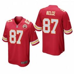 Kansas City Chiefs Travis Kelce 87 Red jeu Maillot