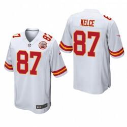 Kansas City Chiefs Travis Kelce 87 Blanc Jeu Maillot