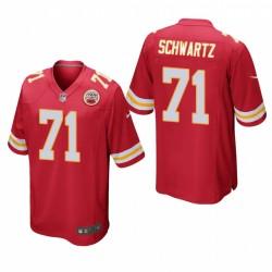 Kansas City Chiefs Mitchell Schwartz 71 Red jeu Maillot
