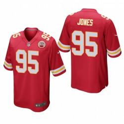 Kansas City Chiefs Chris Jones 95 Red jeu Maillot