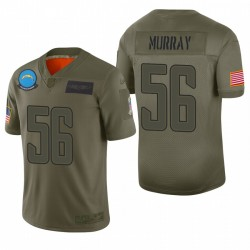 Los Angeles Chargers Kenneth Murray Olive 2019 Salut à Service Limited Maillot