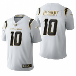 Los Angeles Chargers Justin Herbert blanc NFL Draft or limitée Maillot