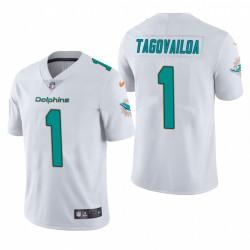 Tua Tagovailoa 1 Miami Dolphins blanc NFL Draft vapeur limitée Maillot
