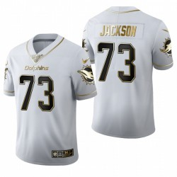 Dauphins Austin Jackson blanc NFL Draft Golden Edition Maillot