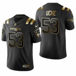 New England Patriots Josh Uche noir NFL Draft or limitée Maillot