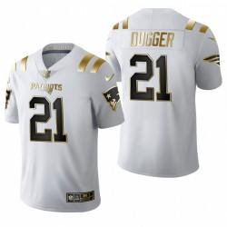New England Patriots Kyle Dugger blanc NFL Draft or limitée Maillot