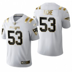 New England Patriots Josh Uche blanc NFL Draft or limitée Maillot
