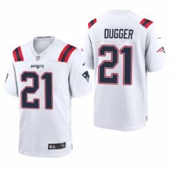 Kyle Dugger 21 Patriots blanc Draft NFL jeu Maillot