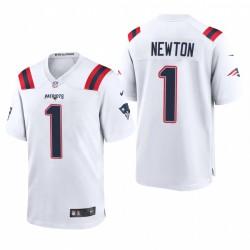 Patriots Cam Newton 1 Blanc Jeu Maillot