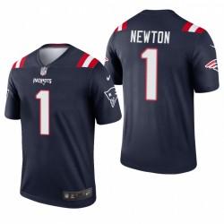 Patriots 1 Cam Newton Navy Legend Maillot
