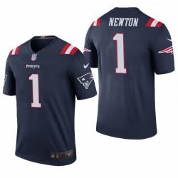 Patriots Cam Newton 1 Couleur Marine Rush Legend Maillot