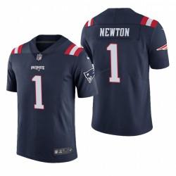 New England Patriots Cam Newton Couleur Marine Rush limitée Maillot