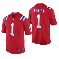 Patriots Cam Newton 1 Rouge Jeu Autre Maillot
