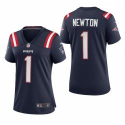 Femmes New England Patriots Cam Newton Marine jeu Maillot