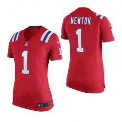 Femmes New England Patriots Cam Newton Red jeu Alternate Maillot