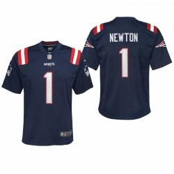 Youth New England Patriots Cam Newton Jeu Maillot - Marine