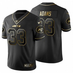 New York Jets 33 hommes Jamal Adams Noir Metallic Gold 100ème saison Maillot