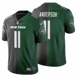 New York Jets 11 hommes Robby Anderson de Split Two Tone Maillot - Noir Vert