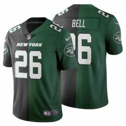 New York Jets 26 hommes Le'Veon Bell Deux Tone de Split Maillot - Noir Vert