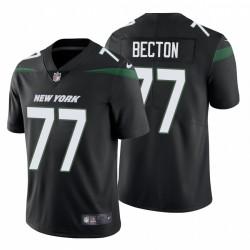Mekhi Becton 77 New York Jets Noir vapeur limitée Maillot NFL Draft