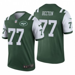 Mekhi Becton Men 77 New York Jets Légende Vert Maillot NFL Draft