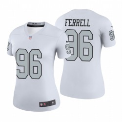 Femmes Clelin Ferrell Oakland Raiders couleur Rush Légende Blanc Maillot