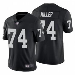 Kolton hommes Miller 74 Oakland Raiders vapeur Intouchable limitée Noir Maillot