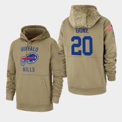 Frank Gore Buffalo Bills masculin 2019 Salut au service Sideline Therma Sweat à capuche - Tan