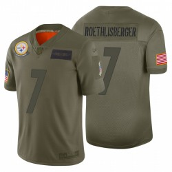 7 hommes Ben Roethlisberger Pittsburgh Steelers Camo 2019 Salut à Maillot Service Limited