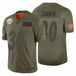 30 hommes James Conner Pittsburgh Steelers Camo 2019 Salut à Service Limited Maillot