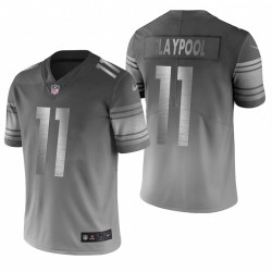 Chase Claypool Steelers Pittsburgh City Édition Limitée Vapor Maillot - Gris Argent
