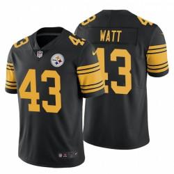 Derek Watt 43 Pittsburgh Steelers Couleur Noir Maillot Rush limitée