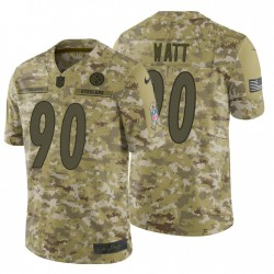 Hommes T. J. Watt Pittsburgh Steelers Camo 2018 Salut au service Maillot