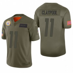 Pittsburgh Steelers Chase Claypool Olive 2019 Salut à Service Limited Maillot