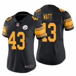 Steelers de Pittsburgh 43 femmes Derek Watt Couleur Rush limitée Maillot - Noir