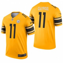 Pittsburgh Steelers 11 Chase Claypool Or Inverted Légende Maillot