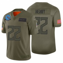 Homme 22 Derrick Henry Tennessee Titans Camo 2019 Salut à Service Limited Maillot