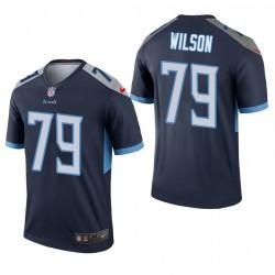 Isaiah Wilson 79 Titans du Tennessee Navy Maillot NFL Draft hommes