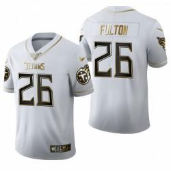 Titans Kristian Fulton blanc NFL Draft Golden Edition Maillot